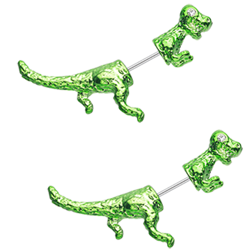 Dinosaur Dash Fake Taper Earring 20g Pair Standard ear post size