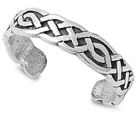 .925 Sterling Silver Toe Ring - Bali Design