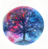 Snap glass tree of life blossom button charms Interchangable Jewelry