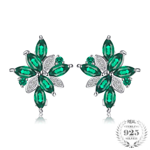2.28ct Created Emerald Clip Earrings 925 Solid Sterling Silver Brand New Vintage Charm Jewelry Gift For Women