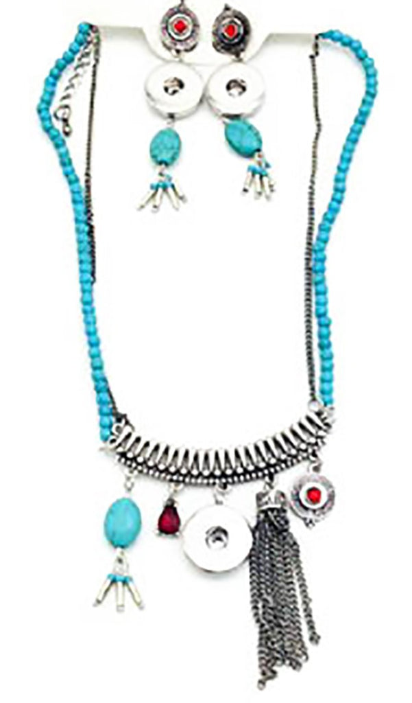 Elegant Necklace Pendants Collares Snap Button Jewelry Indian Western (fit 18mm 20mm Snap)