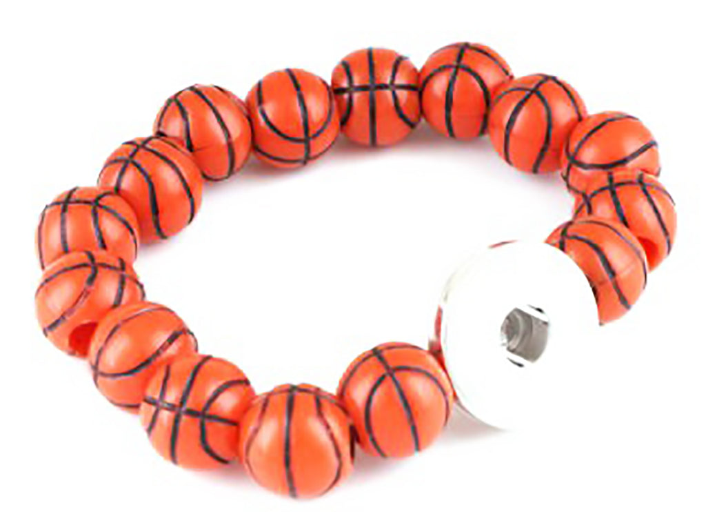 Bracelet Basketball stretch DIY interchangeable Snap Button fits 18mm Free Snap