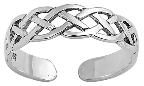 .925 Sterling Silver Toe Ring -    Celtic Design