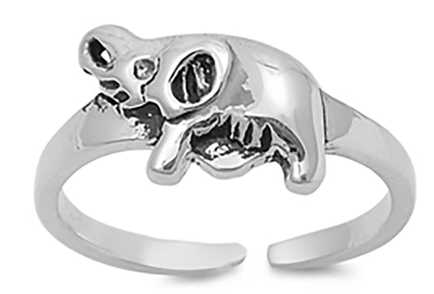 .925 Sterling Silver Toe Ring -    Elephant