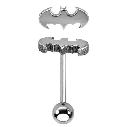 Body Accentz� 316L Surgical Steel Batman Tragus/Cartilage Piercing Stud 14g 5/8'' targus