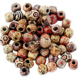 100PCs Mixed Wooden Beads Big Hole Beads Fit Charm Bracelet DIY For Jewelry