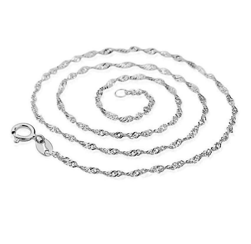 Necklace Models Wave Chain Of High-end Women's Jewelry Silver Top 45CM
