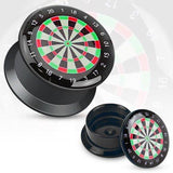 Earrings Ring Black UV Screw Fit Plug with Hollow Classic Dart Board Sold as ...