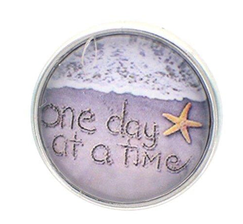 Body Accentz 18mm Snap Charm Button Interchangeable Jewelry One Day at a time