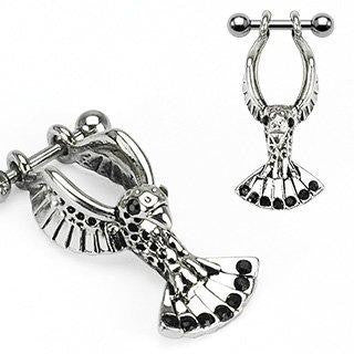 Body Accentz? Earrings Rings Fake Cheater Plug Helix Eagle Cartilage 16 gauge 5/16''- Sold as pair