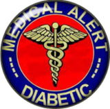 Snap button Medical Alert Diabetic charm  Jewelry 18mm