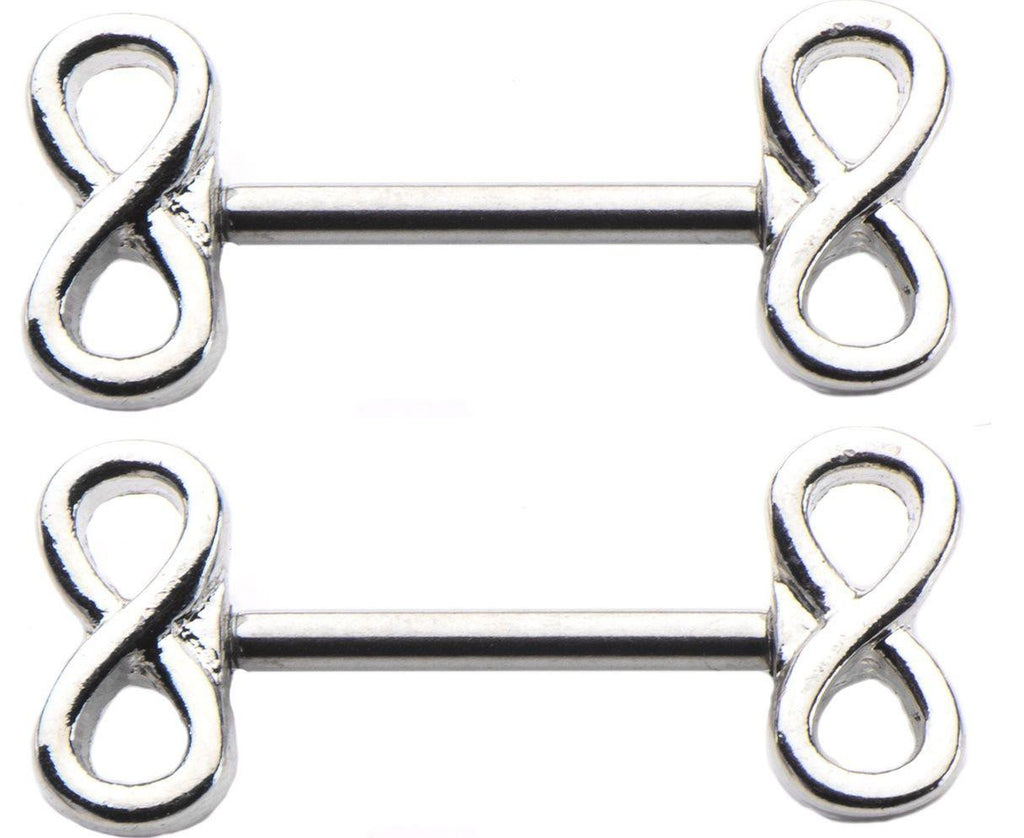 Nipple Ring Bars 2 pc 14g 9/16  Infinity Knot Sign barbell