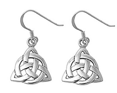 Sterling Silver Triangular Celtic dangle French wire
