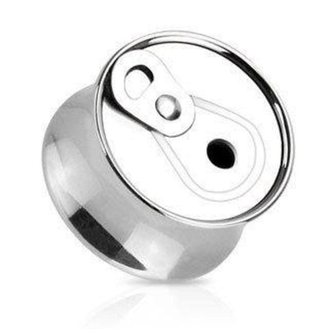 316L Surgical Steel Soda Can Saddle Fit Plug - Sold as a pair