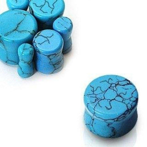Turquoise Saddle Fit Plugs Package - Sold as a pair