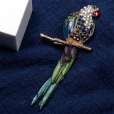 Bird brooch pin crystal animal bling women jewelry birthday gifts her girl wife sister best daughter