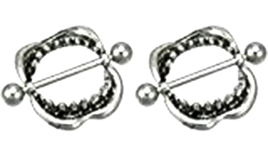 """Nipple Barbell Ring BITE ME Body Jewelry Stainless Steel 14g 1//2/"""""""
