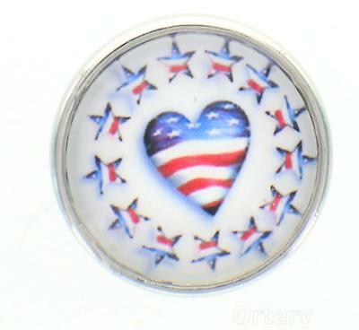 12mm Snap Charms Buttons Interchangeable Jewelry Heart Stars