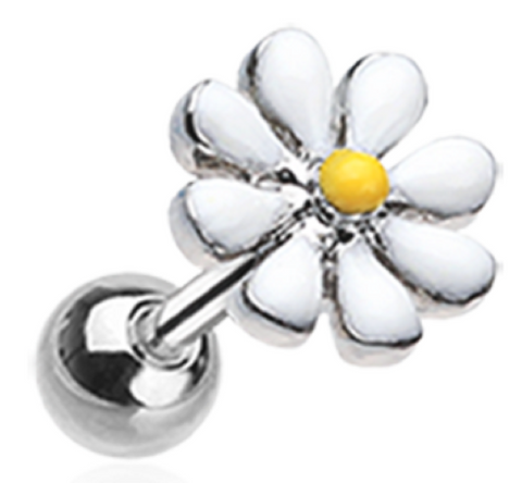 Labret Blossom Daisy Top Monroe body jewelry piercing lip chin tragus 16g 1pc