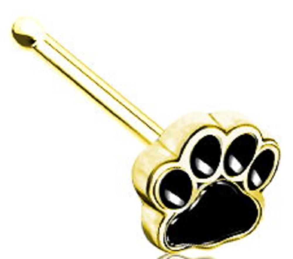 Nose Ring 20g Pet dog cat paw pawprint Nose Stud   20g