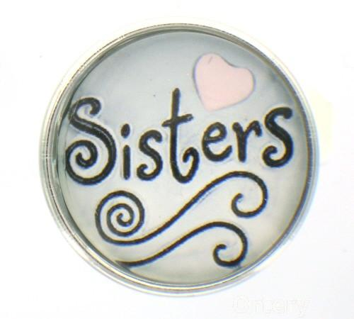 Snap glass  button charms Interchangable Jewelry Sisters