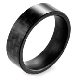 Solid Men Women Matte Finish Black Carbon Fiber Rin Wedding Band engagement jewelry Couples - 9