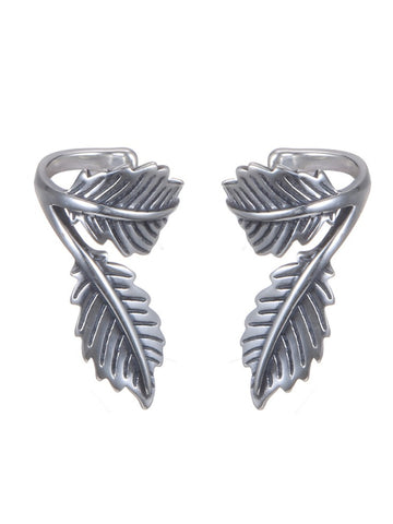 925 Sterling Silver Clip Earring  Leaf Earrings Jewelry Spring