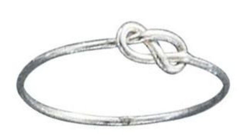 Sterling Silver Infinity Wire Knot Ring Size 4-10
