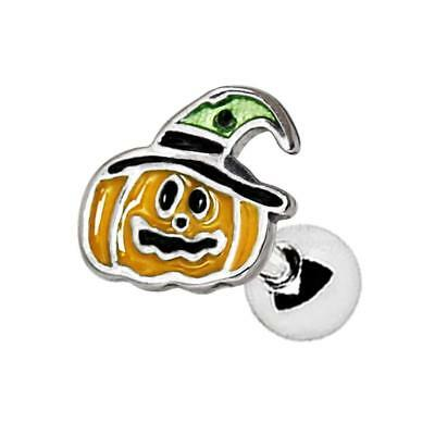 316L Stainless Steel Halloween Pumpkin Cartilage Earring Tragus