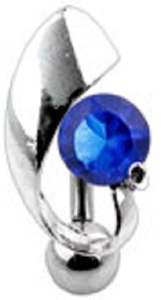 Belly Button Ring Navel Solitaire Reverse Body Jewelry 14 Gauge
