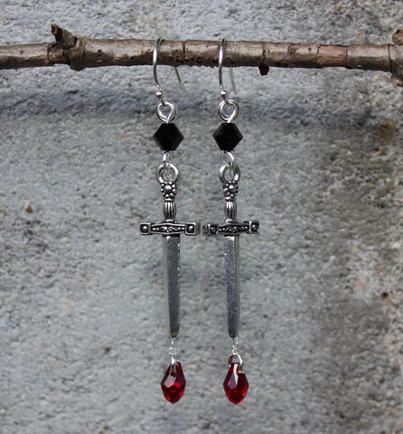 Black Knight Earrings