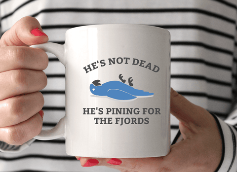 He's Not Dead, He's Pining for the Fjords Mug