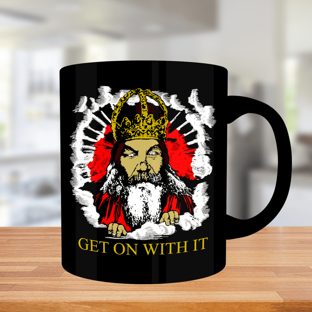 Get On With It Black Mug - Limited Edition