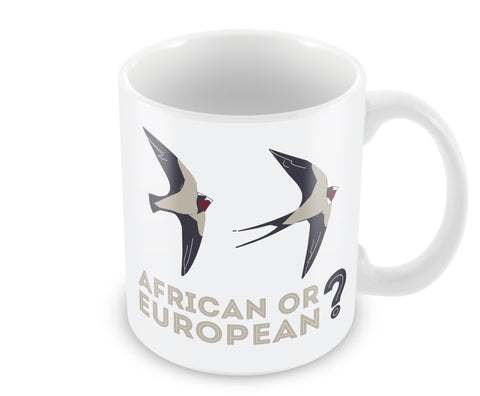 African or European Swallows Mug