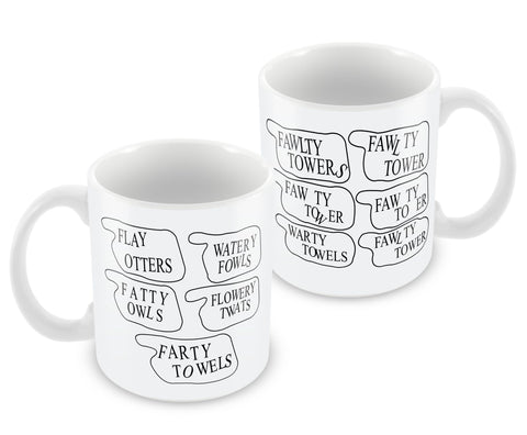 Fawlty Tower Signs Mug