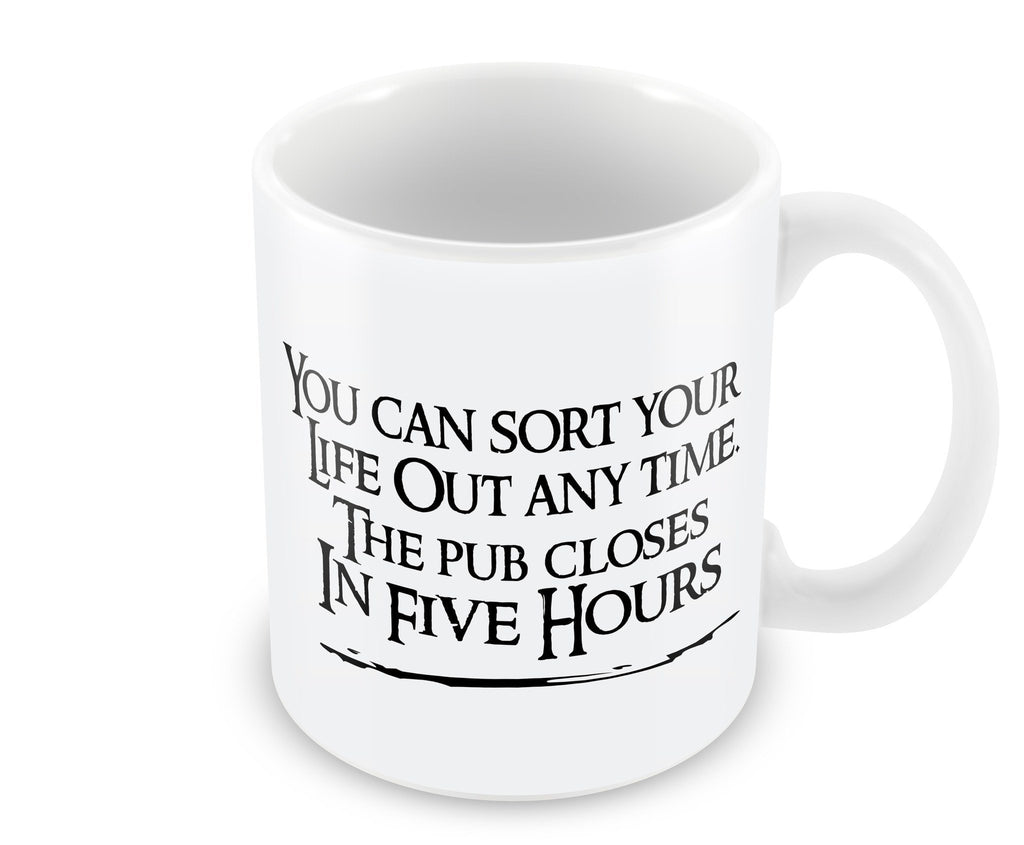 Mug - The Pub Closes In Five Hours Mug