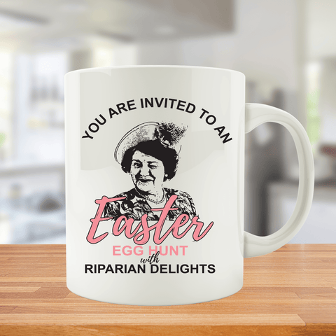 You're Invited to an Easter Egg Hunt with Riparian Delights Mug