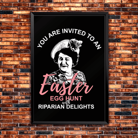 You're Invited to an Easter Egg Hunt with Riparian Delights Poster