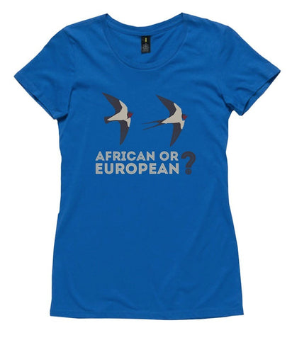 T-Shirt - African Or European Swallows?