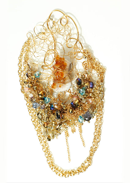 """Ruff Elegance Gold Necklace"""