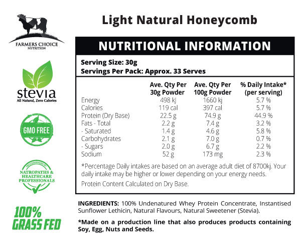 Natural Honeycomb Flavoured Whey Protein Concentrate