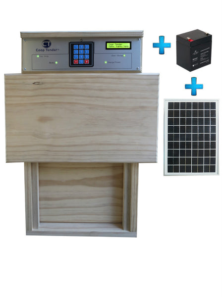 automatic chicken coop door solar bundle