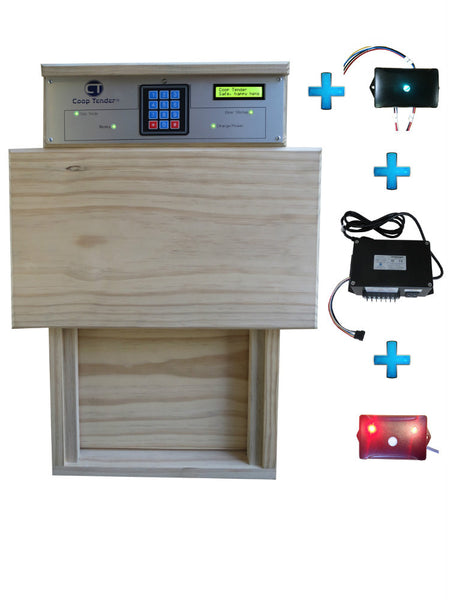 automatic chicken coop door system bundle
