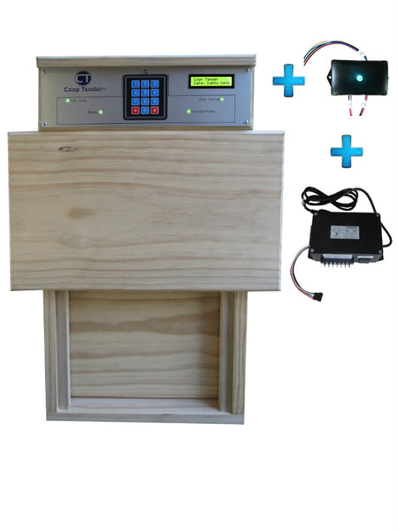 Automatic Chicken Door + Internet Wi-Fi + Accessory Control Bundle