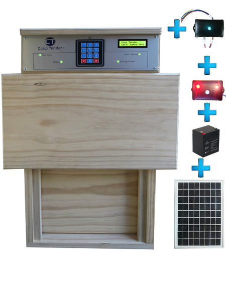 Bundle: Automatic Chicken Door + Internet Wi-Fi + Predator Motion Detect + Solar