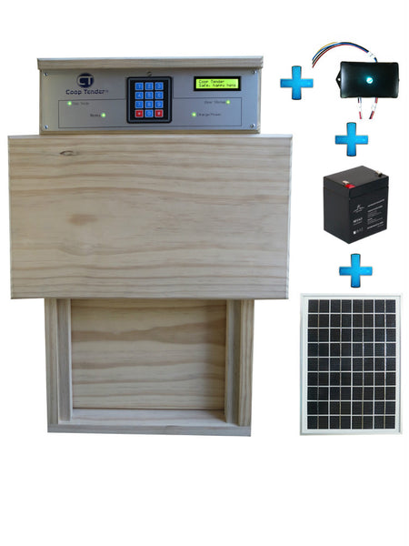 automatic chicken coop door solar wifi bundle