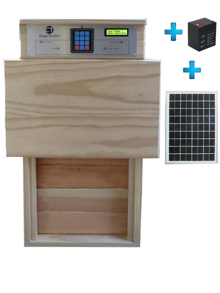 Automatic Turkey Large Chicken Door + Solar Module Bundle