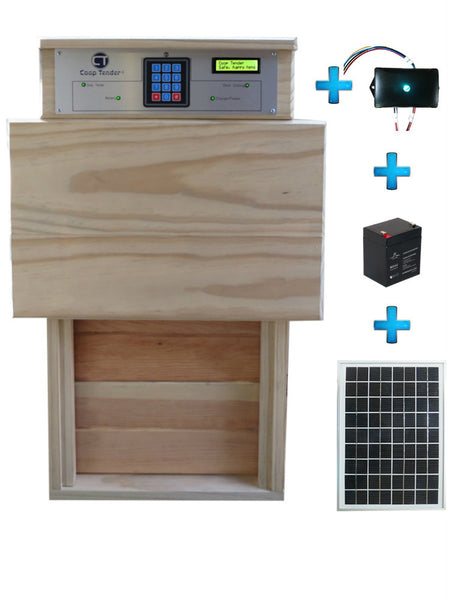 Automatic Turkey Large Chicken Door + Internet Wi-Fi + Solar Bundle