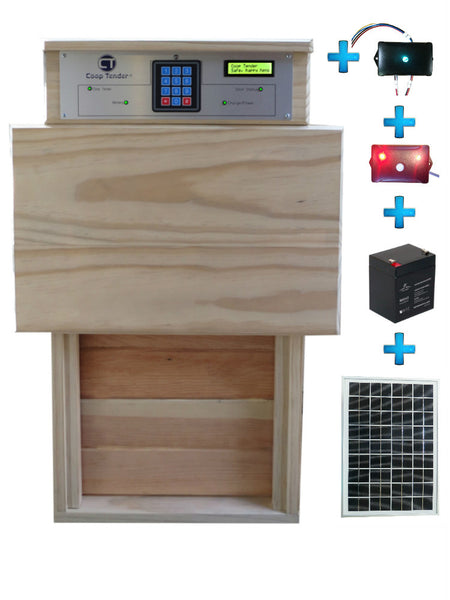 Bundle: Automatic Turkey Large Chicken Door + Internet Wi-Fi + Predator Motion Detect + Solar