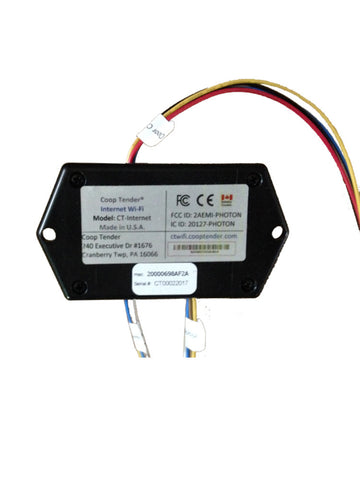 automatic coop door internet wifi module back